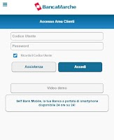 Screenshot of Banca Marche
