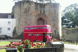 A wedding Bus at a Wedding.  Classic Routemaster