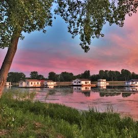 Houseboats at Sunset by Carolyn Taylor - Instagram & Mobile iPhone