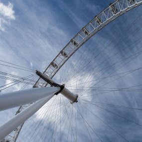 London eye III by Lieven Lema - City,  Street & Park  Skylines ( london, 2012, canon eos 5d mkii, clear sky, eye )