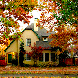 ARRISON BOULEVARD AUTUMN HOME2 by Gerry Slabaugh - Buildings & Architecture Homes ( idaho, home, boise, autumn, architecture )