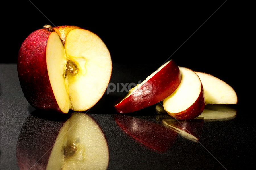 Keeps the Doctor Away? by Ellen Foulds - Food & Drink Fruits & Vegetables ( macro, red, food, apple, fruits )