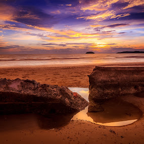 Infinite by Gerard Macorvick - Landscapes Sunsets & Sunrises ( sunset, long exposure, beach, landscape )