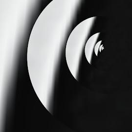 jin jang by Pavel Vrba - Black & White Abstract ( light, opposites, dark, life )