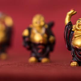 Three Buddhas by Jose Matutina - Artistic Objects Other Objects ( three buddhas, test shots, sel85f14gm, buddha, sony a7ii )