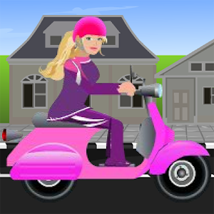 Miss Barbie Scooter Ride