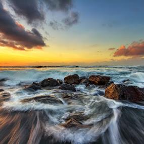 Backflow by Satrya Prabawa - Landscapes Waterscapes