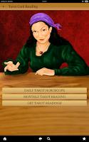 Screenshot of Tarot Card Reading