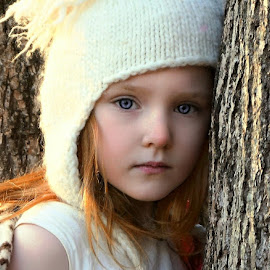 Waiting for Snow by Cheryl Korotky - Babies & Children Child Portraits