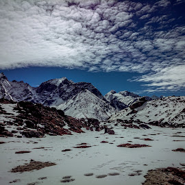 Uncharted territory  by Akashneel Banerjee - Instagram & Mobile Other ( clouds, mountain, himalaya, trekking, snow )