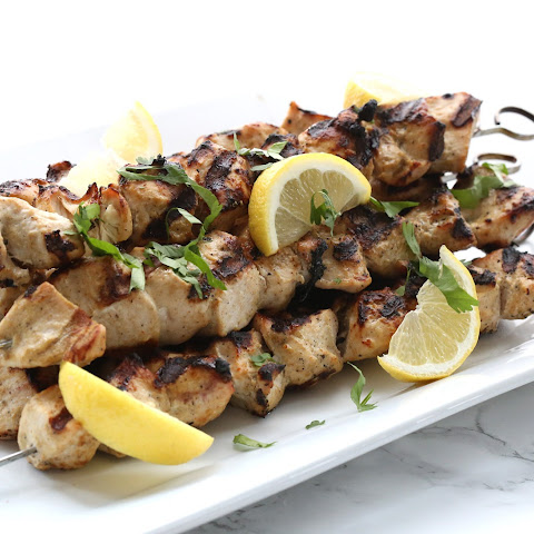 Yogurt Marinated Chicken Skewers