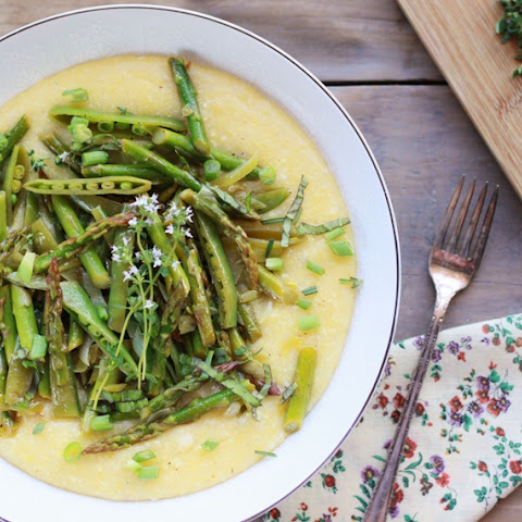 Spring Veggies over Polenta!