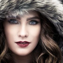 Winter Fashion by Mike Benkis - People Portraits of Women ( taylor, fur, woman, winter, model, nebraska, female, fashion )