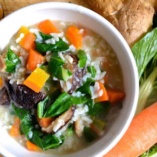 Vegetable and Ginger Congee for #SundaySupper