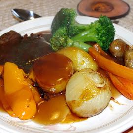 Roast Dinner by Ingrid Anderson-Riley - Food & Drink Plated Food