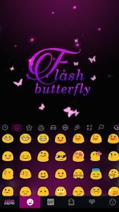Flash Butterfly Kika Keyboard APK