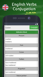 English Verbs Conjugation - screenshot