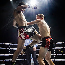 by Kim Johnson - Sports & Fitness Boxing ( punch, muay thai, sports, combat, boxing, knockout )
