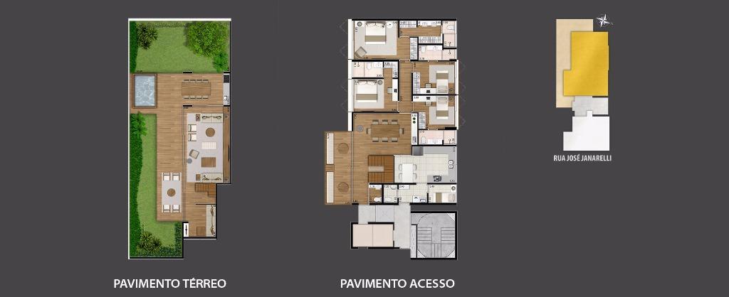 Planta do Duplex Garden -  421 m²