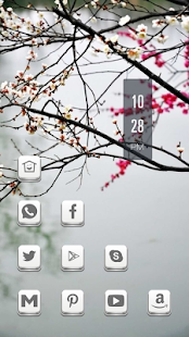 Beautiful bright flowers theme - screenshot