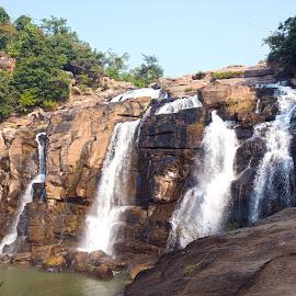 Water Fall by Kunal Kumar Maurya - Landscapes Mountains & Hills ( water, mountains, mountain, waterscape, waterfall )