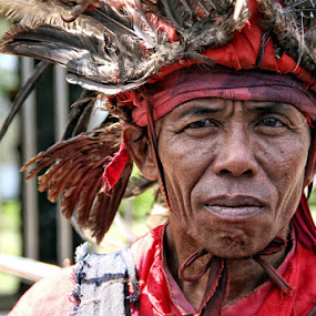 Cakalele Dancer by Ronny Buol - People Portraits of Men