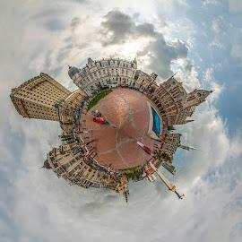 Mini world by Enver Karanfil - Digital Art Things ( buildings, batum, travel, square, mini dünya )