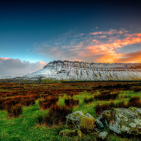 Benbulben Mountain by Alnor Prieto - Landscapes Mountains & Hills