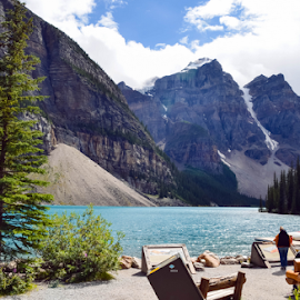 Moraine Lake by Sarah Sanville - City,  Street & Park  City Parks ( canada, moutnains, moraine, banff, lake )