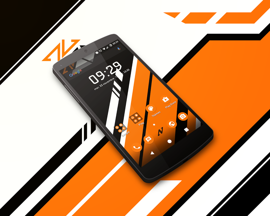 Asiimov Dark CM13 CM12 Theme Screenshot