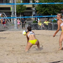 Beach volley by Simo Järvinen - Sports & Fitness Other Sports ( female, beach volley, sports, summer, game, women, outside )
