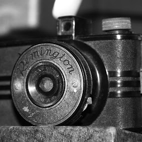 Remington Camera by Daryl Peck - Novices Only Objects & Still Life ( novice, black and white, still life, camera, object,  )