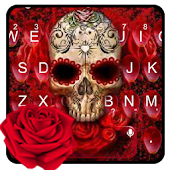 Skeleton Death Rose Keyboard Theme