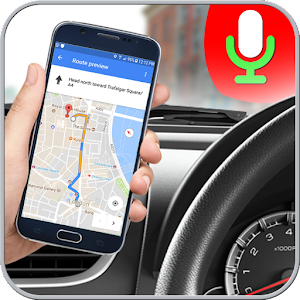 Voice route maps and navigation, turn by turn traveling direction update. APK Icon