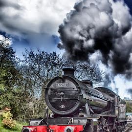 Old Smokey by Dez Green - Transportation Trains ( railway, railroad, steam train, bygone, train, trains, steam,  )