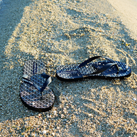 Tsinelas by Glo Arbatin - Artistic Objects Clothing & Accessories ( slippers, sand, sea, beach )