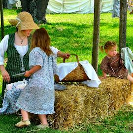 The Summer Picnic by Julie Dant - Babies & Children Children Candids ( little girls, children in summer, summer picnics, pioneer familys, children, toddlers, KidsOfSummer )