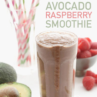 Raspberry Chocolate Avocado Smoothie