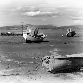 Morecambe bay by Brad Cheek - Landscapes Beaches ( sand, sky, sea, boat, coast )