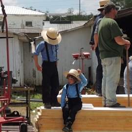 Amish Boys by Denise Guthery - Babies & Children Children Candids ( auction, amish, farm kids, boys, pennsylvania dutch,  )