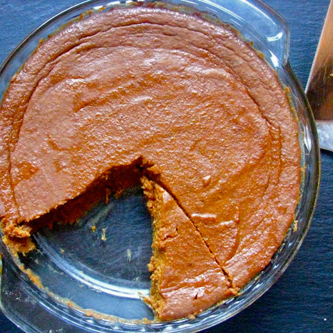 Crustless Pumpkin Pie (GF) (recipe via Debbie Does Dinner Healthy and Low Calorie)