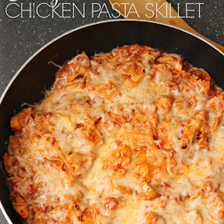 Cheesy Chicken Pasta Skillet