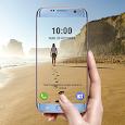 Transparent phone. Livecam Wallpaper