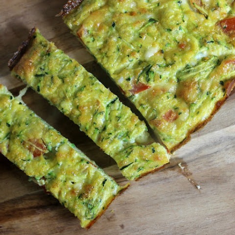 Zucchini and tomato quiche | Toddler Friendly