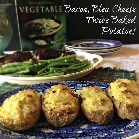 Bacon, Bleu Cheese Twice Baked Potatoes