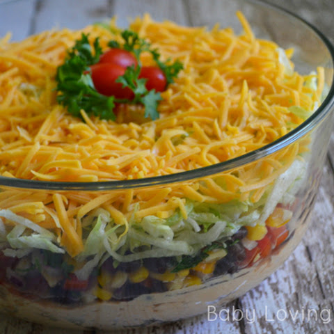 Fiesta Layer Dip with Corn Black Bean Salsa