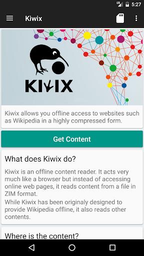 Kiwix, Wikipedia offline screenshot 1