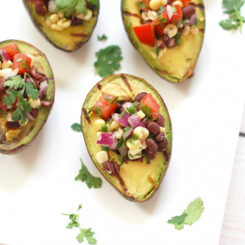 Grilled Avocado Stuffed with Corn & Black Bean Salsa