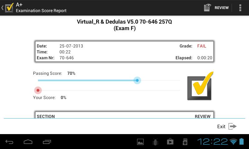 A+ VCE Player Screenshot 2