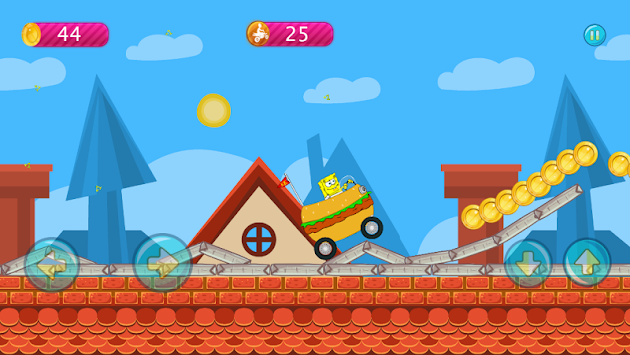 Sponge-bob Jungle Hill Climb APK screenshot thumbnail 2